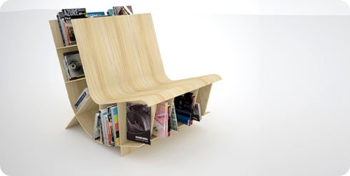 Bookseat la silla estante de biblioteca